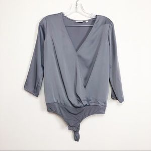 🌴Eva Mendes bodysuit light grey size xs